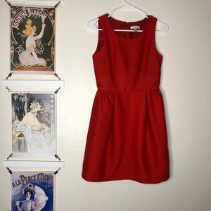 Structured Red J. Crew Dress